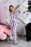Пижама фланелевая П904 Фламинго, фото 2