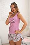 Майка + шорты П008 Розовые барашки, фото 2