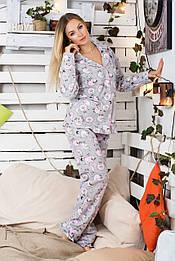 Пижама фланелевая Пр600 Барашки розовые