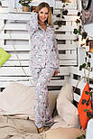 Пижама фланелевая Пр600 Барашки розовые, фото 4