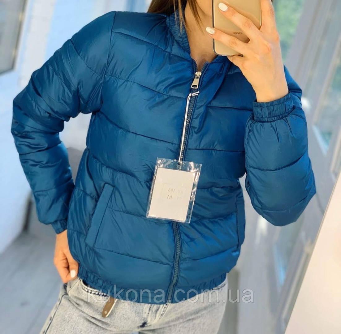 Куртка женская демисезонная. Цвет: синий, бежевый; Размеры: М=42, Л=44, ХЛ=46