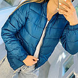 Куртка женская демисезонная. Цвет: синий, бежевый; Размеры: М=42, Л=44, ХЛ=46, фото 6