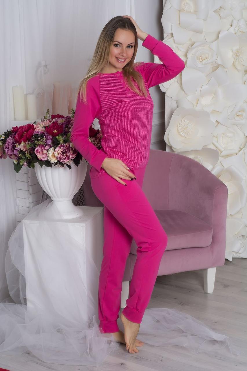Пижама брюки + кофта П715 Малиновый