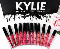Набор матовых помад KYLIE (Кайли) matte lipstick 12в1, черно-белый - Kylie
