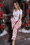 Пижама хлопковая П102 Елочки красные, фото 2