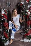 Пижама новогодняя из хлопка П103 Олени, фото 2