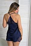 Комплект пижама + халат К811п Синий, фото 2