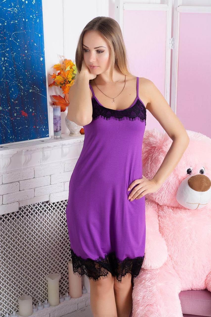 Ночная рубашка из вискозы Н918 Фиолетовый