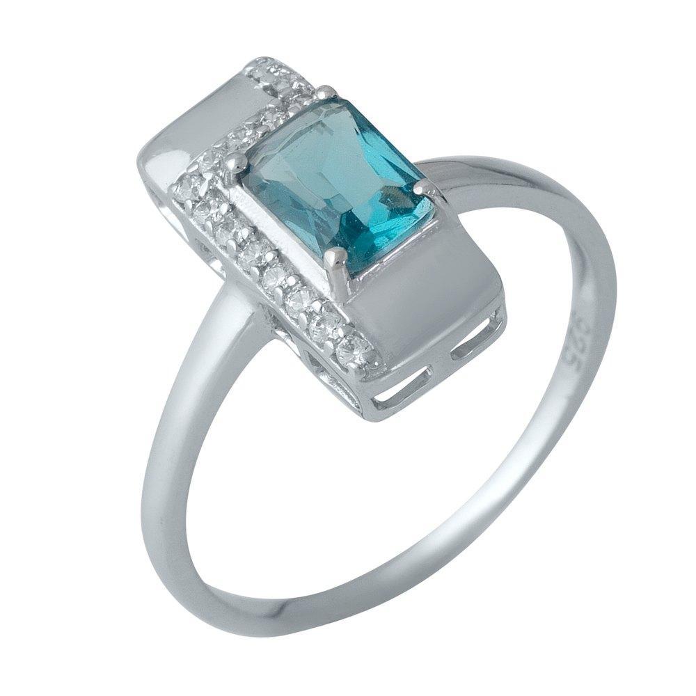 Серебряное кольцо SilverAlex с натуральным топазом Лондон Блю (1988466) 18 размер