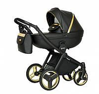 Детская универсальная коляска 2 в 1 Verdi Mirage Soft Gold II, черная (9204)