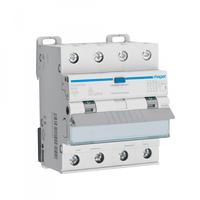 Дифференциальный автоматический выключатель Hager 4P 6kA C-16A 30mA, тип - A