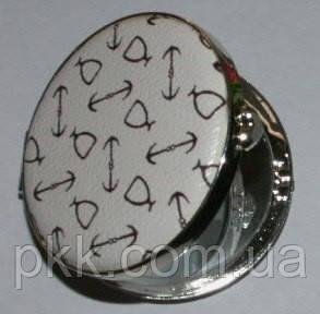 03-4-16-6 Дзеркало  кругле мале стріли білі Viva
