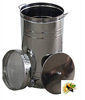 Бак отстойник для меда с нержавеющим фильтром 70 л, кран алюминиевый