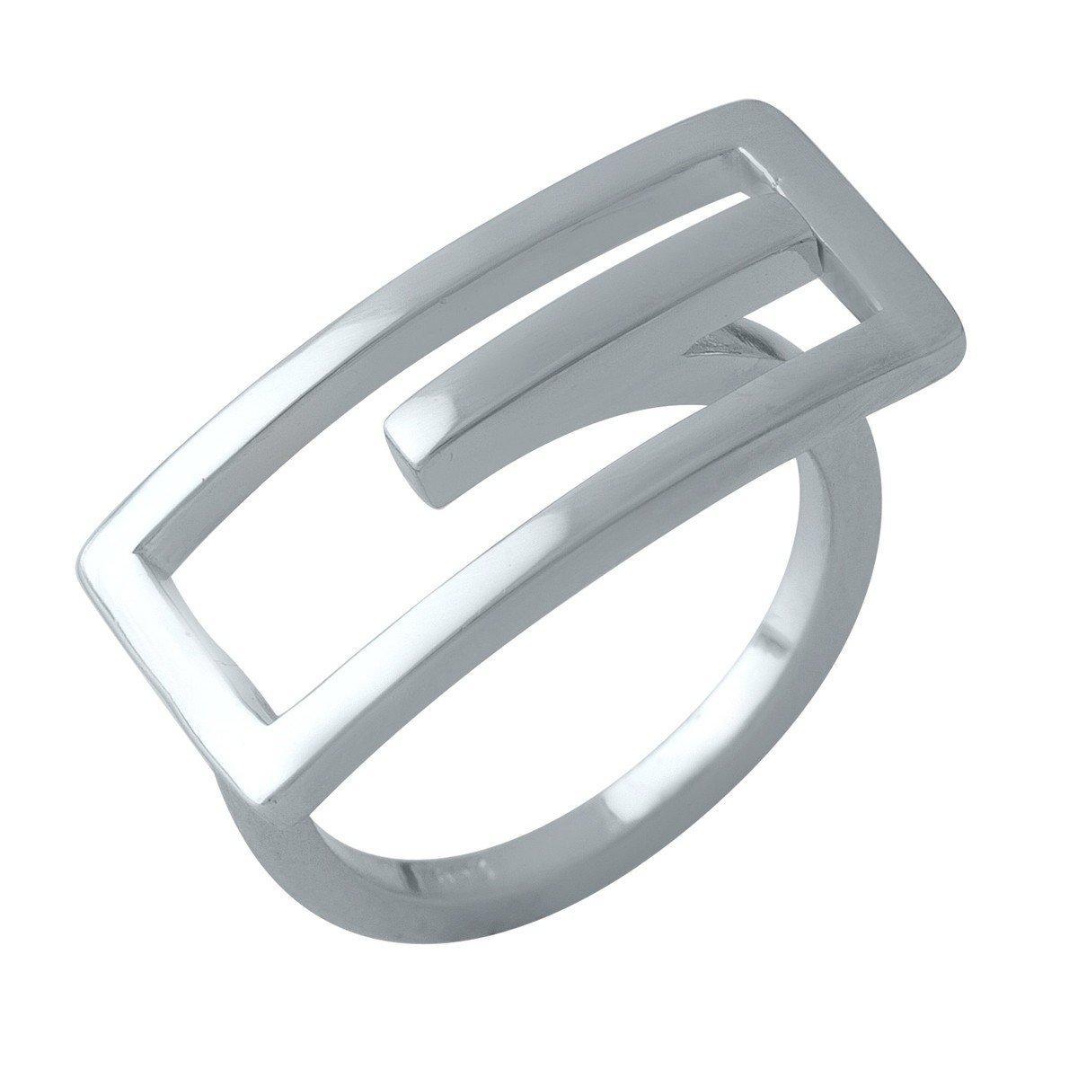 Серебряное кольцо SilverAlex без камней (1998458) 18 размер