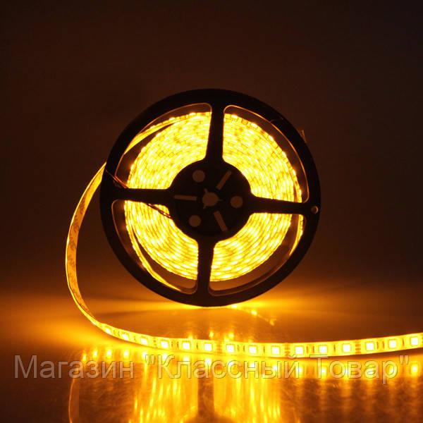 Лента желтая светодиодная 300 SMD5050 Yellow 5 метров в Силиконе! Лучший подарок