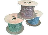 Провод кроссировочный медный, в ПВХ изоляции, 2х0.5мм, бело-голубой (типа ПКСВ), на катушках по 500м,Тайвань