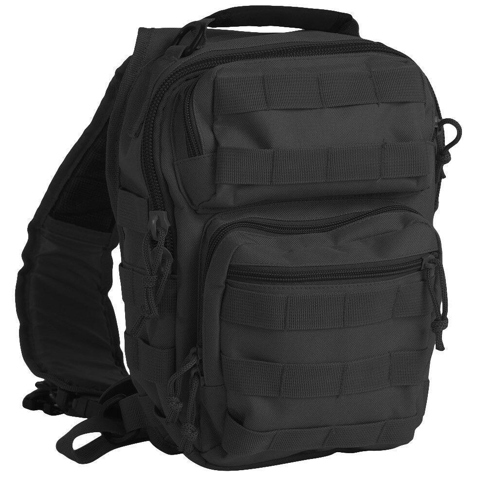 Тактическая сумка однолямка Small Assault Pack MOLLE by MIL-TEC черная