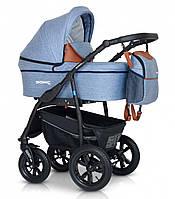Детская универсальная коляска 3 в 1 Verdi Sonic Plus, голубая (8867)