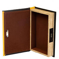 Подарочная книга сейф с кодовым замком для хранения мелочей Лев 26 см. (124129)