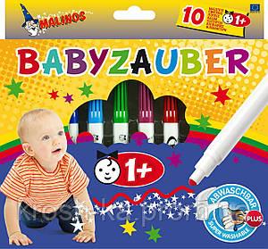 Фломастеры на водной основе MALINOS Babyzauber для малышей 10 шт Malinos Германия MA-300011