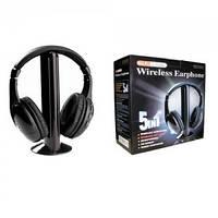 Беспроводные наушники 5 в 1 Wireless Headphone + FM, фото 1
