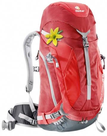 Мультифункциональный рюкзак для туризма 28 л DEUTER ACT Trail 28 SL 5560 cranberry-fire