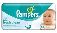 Pampers Fresh Clean влажные салфетки, 64 шт.