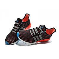 Кроссовки мужские Adidas Gazell Boost  черно-оранжевые, фото 1