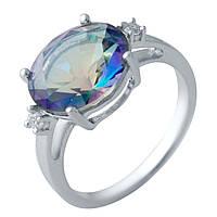 Серебряное кольцо SilverAlex с натуральным мистик топазом (2017226) 17.5 размер