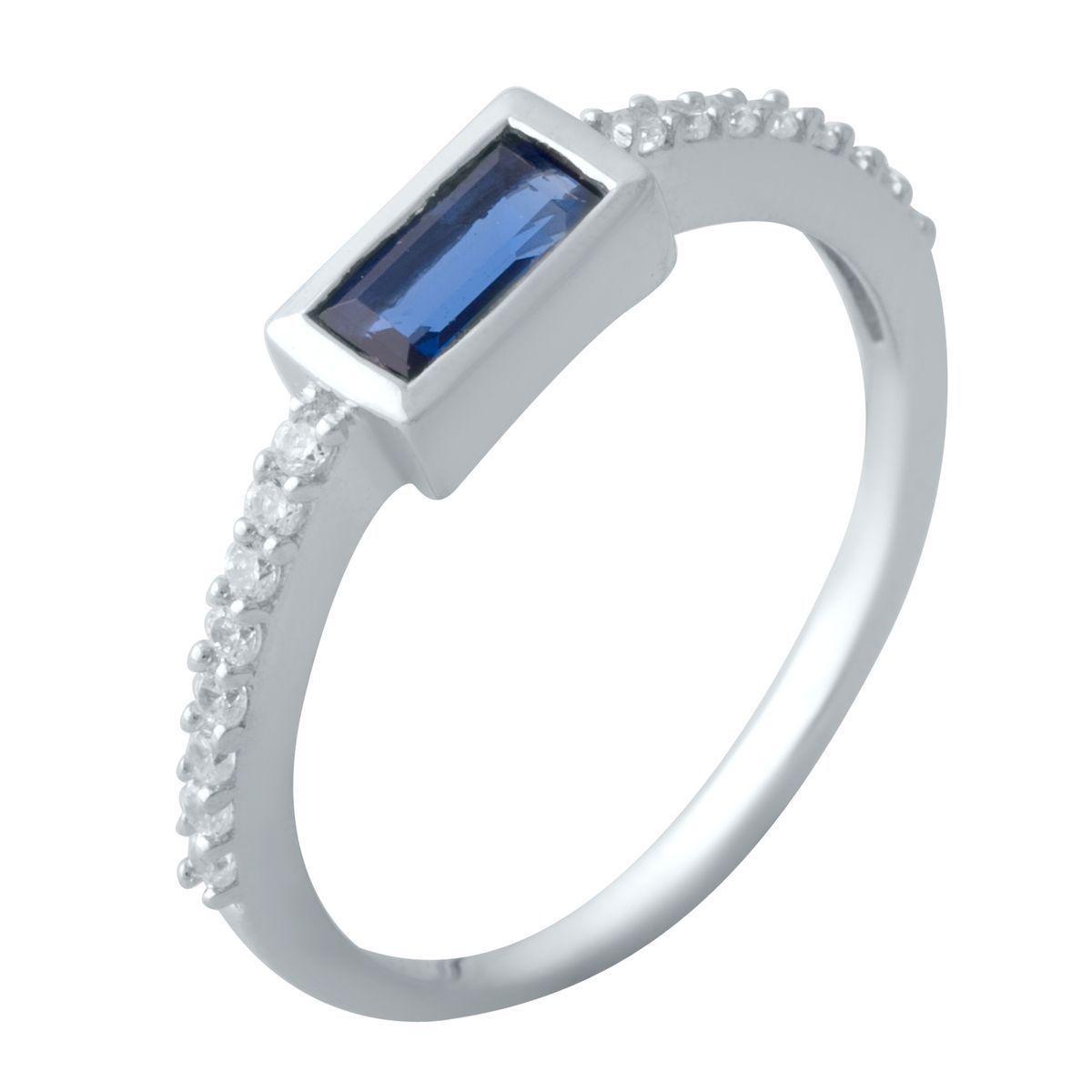 Серебряное кольцо SilverAlex с сапфиром nano (2021780) 16.5 размер
