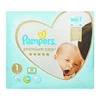 Подгузники Pampers Premium Care 1(2-5кг) 26шт Pampers Польша 89693