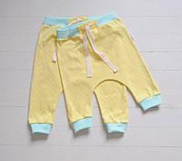 Хлопковые трикотажные штанишки гаремы в горох. Унисекс. Размеры: 86, 92 см, фото 1