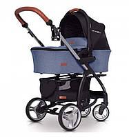 Универсальная детская коляска 2 в 1 EasyGo VIRAGE ECCO 2019, джинс (9384)