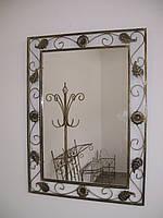 Кованое зеркало без полочки большое., фото 1