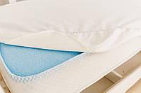 Наматрасник махровый непромокаемый на резинке в детскую кроватку Twins 120×60 см, белый
