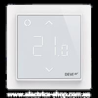 Терморегулятор электронный DEVIreg™ Smart Pure White Wi-Fi, интеллектуальный таймер, белий