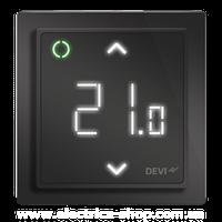 Терморегулятор электронный DEVIreg™ Smart Pure Black Wi-Fi, интеллектуальный таймер, черный
