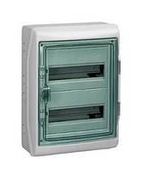 Шкаф накладной, 24 мод (2ряд/12мод.) прозрачная дверь, ІР65 Kaedra Schneider Electric 13983