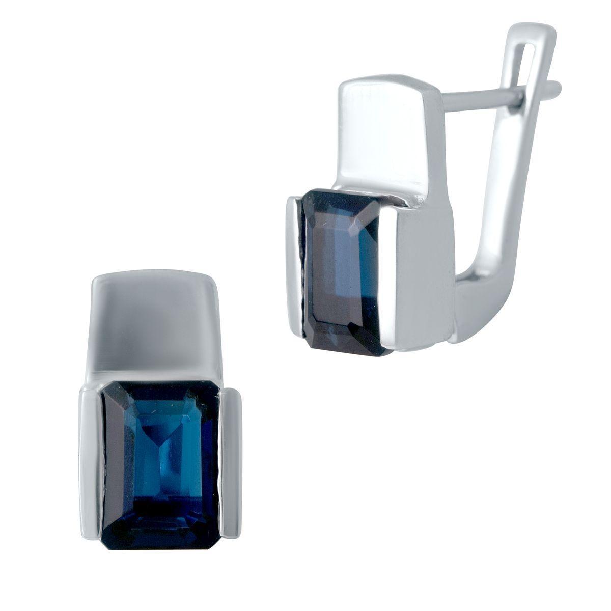 Серебряные серьги SilverAlex с сапфиром nano (2029137)