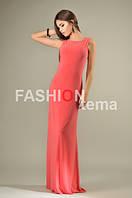 Женское платье масло коралл