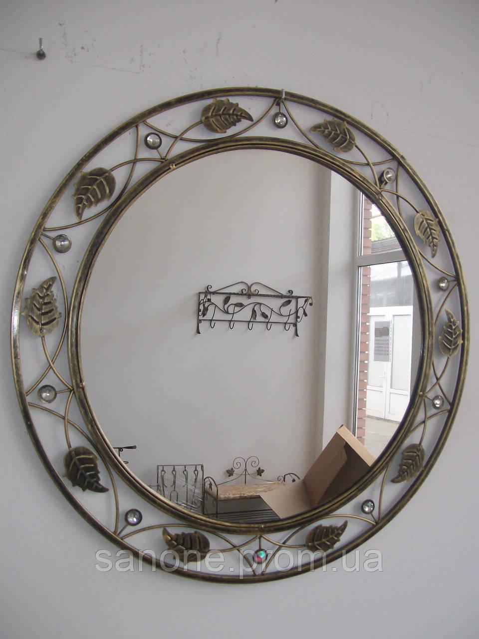 Кованое зеркало круглое большое.
