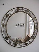 Кованое зеркало круглое большое., фото 1