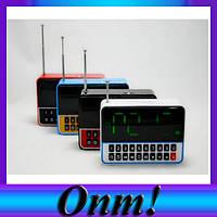 Колонка радио WS-1513, USB, со встроенными часами будильником!Лучший подарок