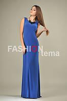 Женское платье масло синее