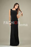 Женское длинное платье масло черное