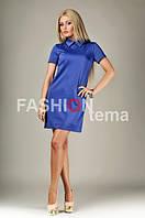 Женское платье трикотаж синее