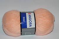 Пряжа ангора рам мохер ярнарт персиковый цвет для ручного вязания