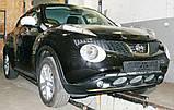 Декоративно-защитная сетка радиатора Nissan Juke фальшрадиаторная решетка, бампер, фото 5
