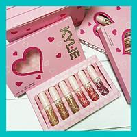 Набор матовых помад Kylie Valentine's Edition 6шт! Лучший подарок, фото 1