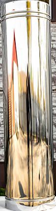 Труба дымоходная L 1000 нерж стенка 0,5 мм 180, фото 2